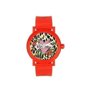 Betsey Johnson Iconic Red Silicon Watch NEW
